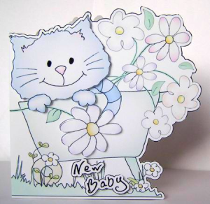 Cat Shaped Cards