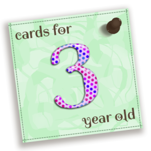 Birthday Cards For 3 Year Old