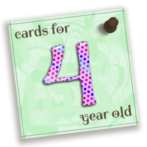 Birthday Cards For 4 Year Old