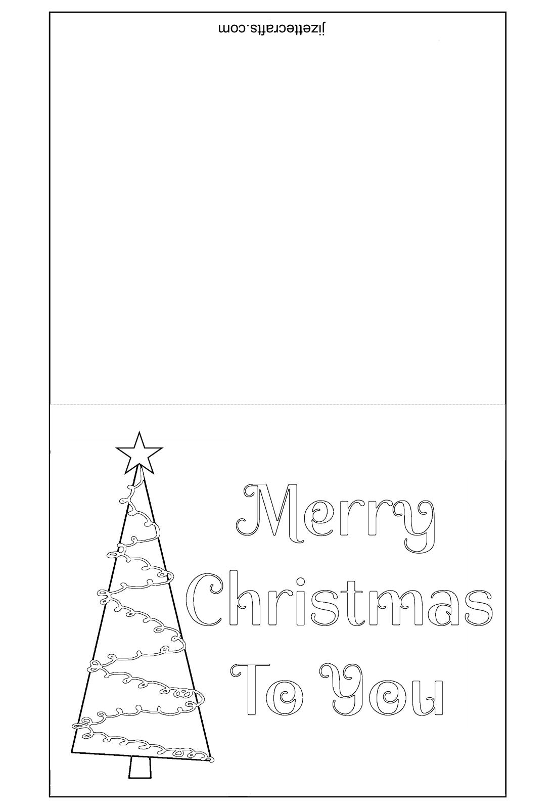 Printable Christmas Tree Cards - jizettecrafts.com